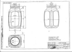 Стеклобанка типа III-82-1500  кубышка