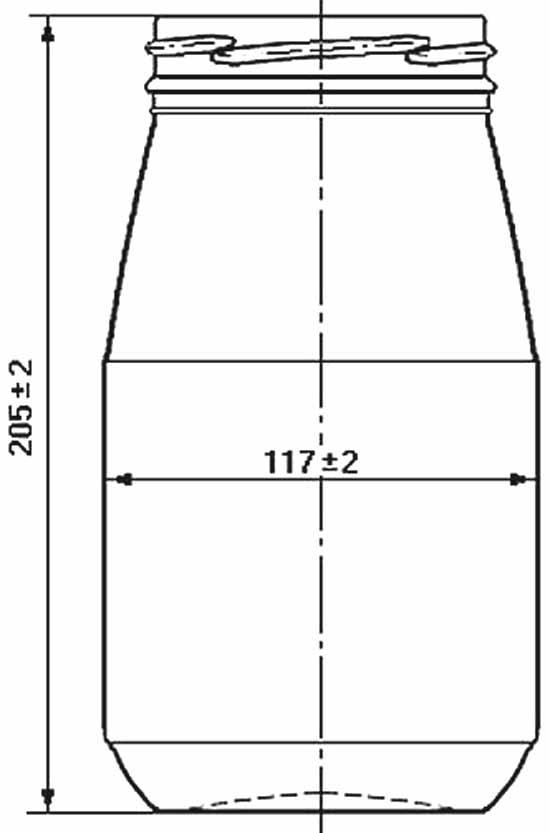 Стеклобанка типа III-89-1500