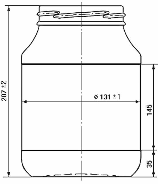 Стеклобанка типа III-100-2000