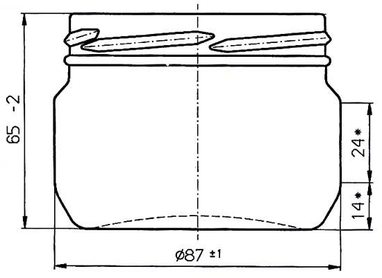Стеклобанка типа III-82-250