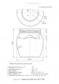 Стеклобанка типа III-82-500 амфора