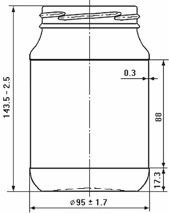 Стеклобанка типа III-82-720