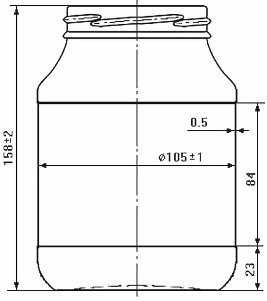 Стеклобанка типа III-82-950